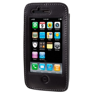avenue-d Italian Leather Sleeve for iPhone 3GS(ブラック)